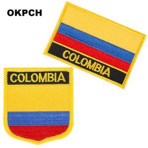 Bayrak Yamalar Ulusal Bayrak Patch üzerinde Kolombiya Nakış Demir Giyim için DIY Dekorasyon PT0066-2