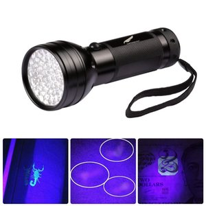 UV Led Fener Köpek İdrar Pet Stains ve Oda Bug Fener CCA11473 20pcs 51 LED'ler 395nm Menekşe Torch Işık Lambası Blacklight Dedektör