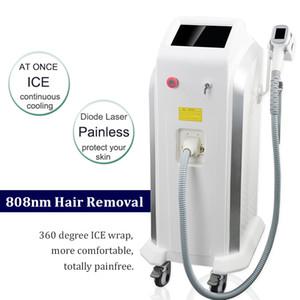 2021 Rimozione grande macchia 808nm Laser Diode capelli della macchina del laser Soprano ghiaccio rimuovere i peli indolore permanente Spa Salon Usa macchina laser 808 nm