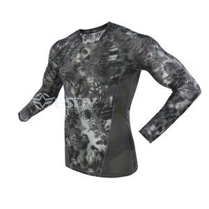 Yeni Geliş Taktik Kamuflaj tişört Erkekler Nefes Ordu Üst T Gömlek Yürüyüş Kamp CS Eğitim Spor Hızlı Kuru T-shirt