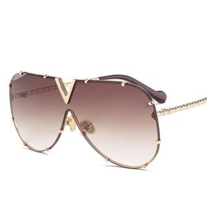 Luxus Designer Sonnenbrille Männer Frauen Big Frame Übergroße Sonnenbrille 2019 New Gradient Shades Eyewear versandkostenfrei