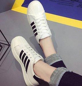 Hot Sale-ell klassischen Sport-Freizeit-kleine weißen Schuhe Männer Kopf und Frauen Shell Kopf Brettschuhe