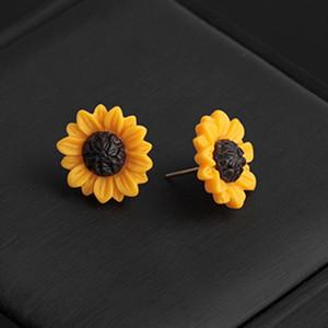 New 1 paire d'or Tournesols Boucles d'oreilles pour les femmes frais de Charme Simplicité Beau style mignon de fleur de marguerite Boucles d'oreille à la mode