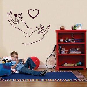 네일 살롱 장식 비닐 아트 데칼 뷰티 살롱 스티커 벽화를 들어 매니큐어 벽 예술 Decal 벽에 스티커를 조각