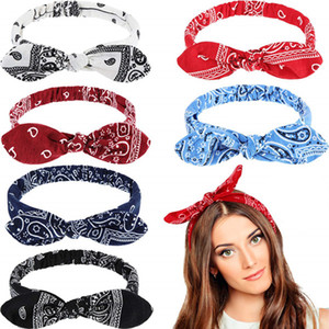 Banda elástica oídos de conejo de pelo de 6 colores estilo simple venda elástico del alambre de acero de fijación de pelo Accesorios Mujer Viajes VT1415