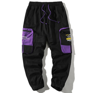 2020 casuales de la moda Streetwear Hombres Vaqueros de calidad superior de Carga Pantalones Harem Hombres pantalón verde diseñador de los pantalones de Hip Hop Joggers
