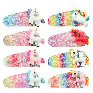 Us 082 15 Offgirls Hairpin Child Twist Hair Clip Simple Barrette Butterfly Unicorn Hair Rope Accessories Kids Wig Rope Hair Head HXNPH