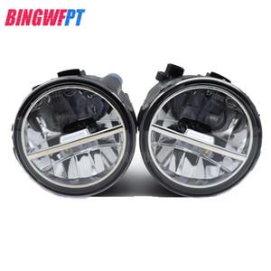 1 SET (Izquierdo + derecho) Car Styling Delantero LED Luces antiniebla Faros antiniebla 26150-8990B Para Nissan Note E11 Murano Z51 Lafesta Presage 2004-2015