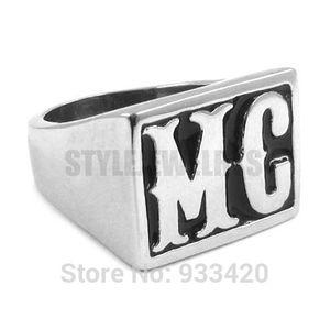 ¡Envío gratis! Joyería motocicletas motorista MC anillo del acero inoxidable del anillo del anillo de los hombres clásicos del punk motor motorista