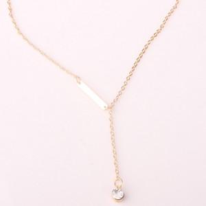 Мода Подвеска из металла Золотое ожерелье Позолоченный Lariat Crystal gem Длинное ожерелье Для Женщин ювелирные изделия бесплатно DHL TNT
