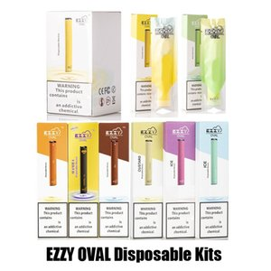 EZZY OVALE dispositif à usage unique jetable Vape Pen 280mAh Batterie Cartouches Empty Bar 300 Puffs dispositif Starter Kit Vs Puff plus POP