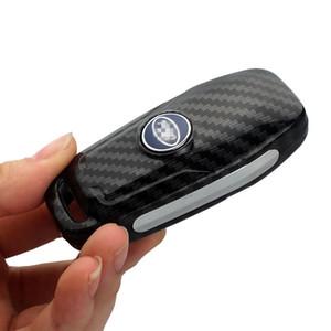 Silikon Karbon Fiber Araba Anahtarı Koruyucu Kılıf Kabuk Ford Kenar Mondeo Mustang Için