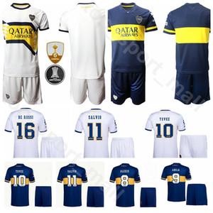 Homens futebol 2020 2021 Boca Juniors 10 Carlos Tevez Jersey 19 Mauro Zarate 17 Ramon Abila 16 Daniele De Rossi Futebol shirt Kits