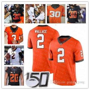 2019 Custom Oklahoma State Cowboy NCAA College Tylan Wallace Spencer Sanders Chuba Hubbard Justin Blackmon Football Sewn Jersey High Quality