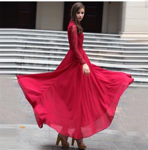 Explosões 2020ss alta qualidade Lazer rendas império Retro correspondência Vestidos Mulheres vestido de verão Casual