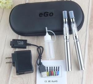 Çift eGo-T CE4 Başlangıç Kiti E Sigara Buhar 1100mAh 900 Pil 1.6ml CE4 Clearomizer E Çığ Seti Fermuar Vaka Vape Kalem Seti