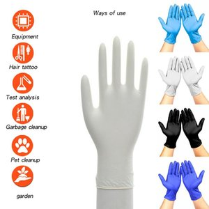 4 Colors 100Pcs Disposable Gloves Latex Universal Kitchen Dishwashing Work Rubber Garden Gloves For Left and Right Hand Y200421