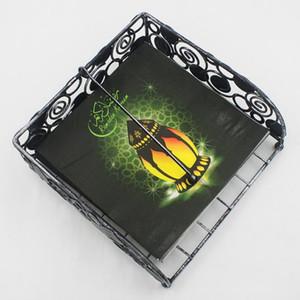 20pcs Pack Arabian Lampe Papier Serviettes En Papier Ramadan Papier Mouchoir Pour Mois Islamique Eid Musulman al-Fitr 33 * 33 cm BC BH1409