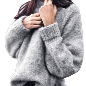 여성 두꺼운 스웨터 겨울 오버 사이즈 니트 풀오버 긴 소매 점퍼 코트 루즈 탑 니트 Mujer Wool Warm Knits Soft