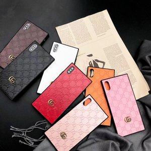 Para iphone x xs max xr casos de telefone celular colorido tpu pu couro pele shell case para iphone 7 7 plus 8 8 plus 6 6 s além de habitação anti-batida