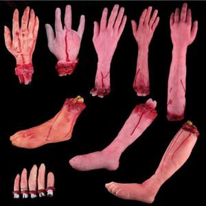 Dedo roto Mano Pie de sangre del horror de Halloween decoración de 9 diseños de la fiesta Hígado Corazón del pie Festival Cerebelo Accesorios novedad Gadgets