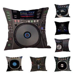 Funda de cojín DJ MUSIC Throw 18 pulgadas Funda de almohada Asiento de coche Cojín Sofá Funda de almohada Throw cojines decorativos para sof
