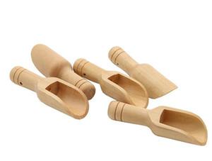 DHL Mini madeira chá café banho colher colher sal de mesa ofícios madeira pequena colher de medição madeira Cozinha talheres nt