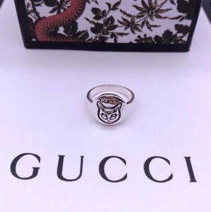 2020 Vintage Argent 925 Cat design de luxe Bagues de femmes mariage rétro doigt Bague de fiançailles anelli g anillos bijoux