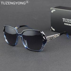 TUZENGYONG marchio di lusso Italia delle donne di disegno occhiali da sole polarizzati signore Gradient Occhiali da sole Accessori T2548