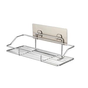 Edelstahl Bad Regal Halter Küche Lagerregal EDC Wandbehang Draht Regale Wasserdicht Silbrig Kein Lochen 18ll C1