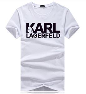 Karl Brand atacado t-shirt dos homens e mulheres famosos designers italianos de mangas curtas t-shirts rua roupas de hip-hop T skate cotto
