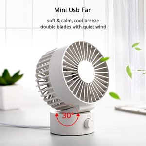 Summer USB Fan Creative Mini USB Fan For Office Home Beach Portable 2 Speed Computer PC Fans With Double Side Fans Blades Blower