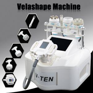 Taşınabilir 5IN1 Velashape Terapi Makine Vücut Şekillendirme Kavitasyon RF Zayıflama Zayıflama Vakum Butt Kaldırma Makinesi