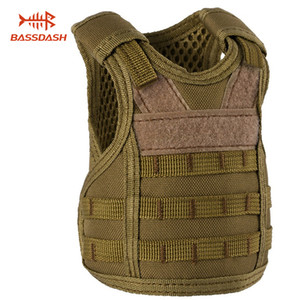 Bassdash Mini Tactical Vest Bottle Koozie с регулируемыми ремнями, держатель для напитков для банок и бутылок емкостью 12 унций или 16 унций, 7 цветов