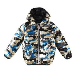 Boys'Cotton Giyim 2018 Yeni Kids 'Pamuklu Giysiler Giyim Kamuflaj Kış bebeğin Pamuk Ceket