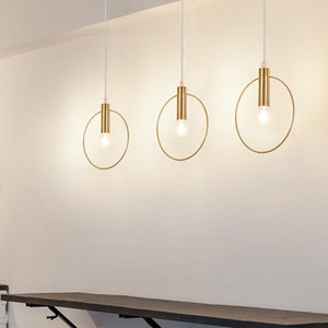 Moderne Pendelleuchte Gold-Rohr-Pendelleuchte Errichtet Hängelampe Matel für Esszimmer E14-Leuchten 85-240V