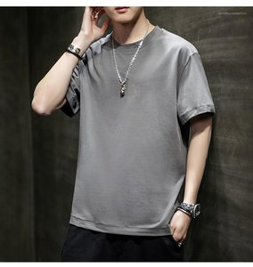 Tshirt multicolore opzionale girocollo manica corta magliette di modo traspirante Mens Tshirt Solid Mens Casual Colore
