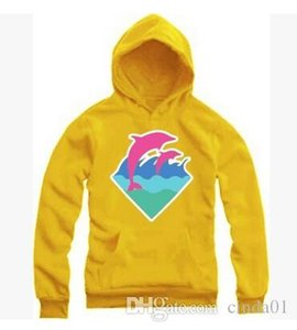 For Autumn Winter Hoodies Pink Sportswear Fashion Clothing New Sweater Men Dolphin Hiphop Wholesale Men M-4XL Urgce
