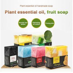 Jabón Natural Rose fruta tailandesa de carbón de bambú exfoliante hidratante hidratante lavado de manos Limpieza del jabón de baño jabón