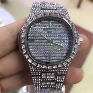 Tous les amateurs Diamond Watch Hommes Femmes Quartz Place Montre étanche Montre Homme d'affaires Femmes Robe Wristwatch 2020 Couple meilleur cadeau
