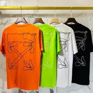 2020 Mens TShirt Men Women High Quality Short Sleeves Fashion Boy London Men Breakage of the letter Printing Tee 060