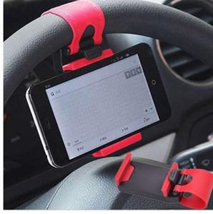 자동차 홀더 미니 에어 벤트 스티어링 휠 클립 마운트 휴대 전화 모바일 홀더 유니버셜 아이폰 지원 브래킷 스탠드