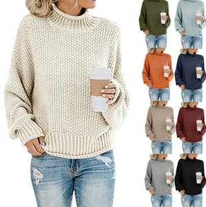Women Fashion Sweater 2020 New Arrival Solid Color Womens Sweaters Designer Long Sleeve Pullover Tops Top Quality Wholesale