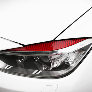 Car Styling Front Headlight Eyebrow Decoration Cover Trim Carbon Fiber For BMW 3 Series F30 F35 2013-2019 Exterior Accessories