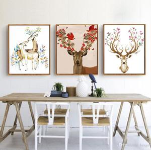 DIY Ölgemälde Tier Dekoriert Bild Kunst Gemälde Handgemalte Deer Ölgemälde Sofa Wanddekoration Kein Rahmen 16 * 20 zoll BC BH1495