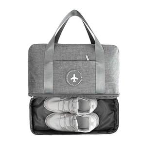 주최자 여행 더플 가방 액세서리 포장 휴대용 여행 가방 여성 의류 드라이 습식 분리 저장 핸드백