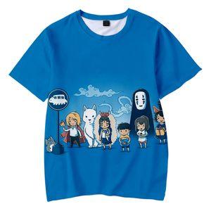 Spirit Away Kids T-shirt Studio Ghibli Miyazaki Hayao 3D футболка графические тройники мальчики / девочки мультфильм смешная футболка Детская одежда
