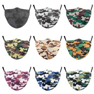 Newest camo print face mask  cotton face mask washable reusable cosplay mask free shipping