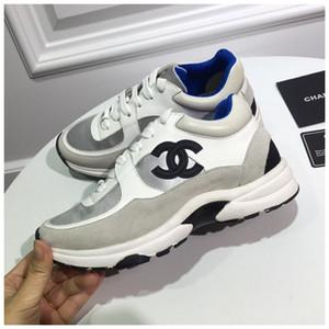 Datando artefato para sapatos Mens calçados casuais designers de tênis boate avançado material de ouro Brown branco preto com caixa de c01