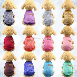 Knitting Dog Clothes Apparel Autumn Winter Pet Dog Sweater Coat Clothing classic Hoodied Defensive Puppy Cat Dogs Sweater Dog Shirt WX9-1329
